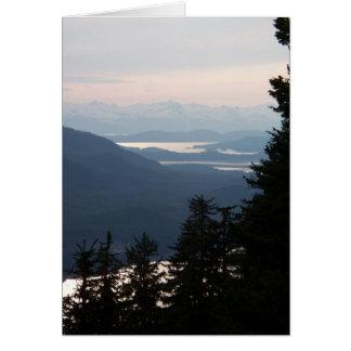 Solnedgång från Mt Roberts Hälsningskort