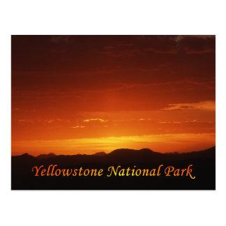 Solnedgång från vykort för Mt. Washburn