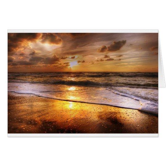 Solnedgång Hälsningskort