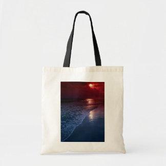 Solnedgång hav, sand, seashore, Florida, USA Kasse