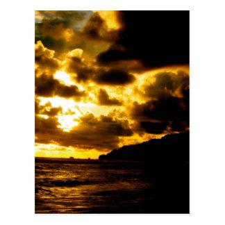 Solnedgång i Carate, Costa Rica Vykort