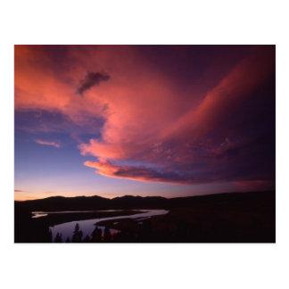 Solnedgång i Hayden dalvykort Vykort