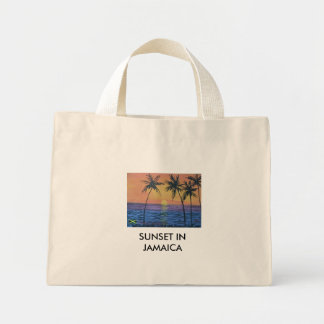 SOLNEDGÅNG I JAMAICA MINI TYGKASSE