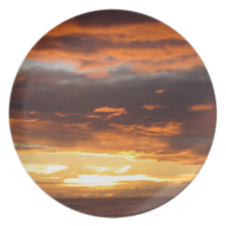 Solnedgång i Lahaina i Maui Hawaii Tallrikar