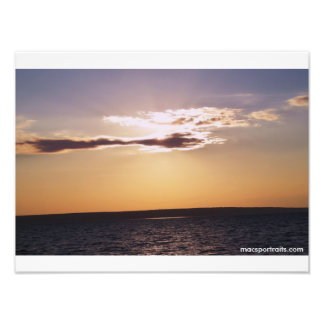 Solnedgång Lake Superior Fototryck