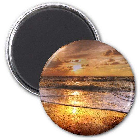 Solnedgång Magnet Rund 5.7 Cm