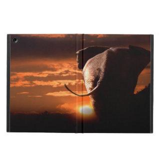 Solnedgång med elefanten iPad air fodral