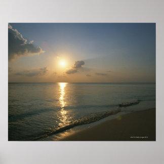 Solnedgång och hav 2 poster
