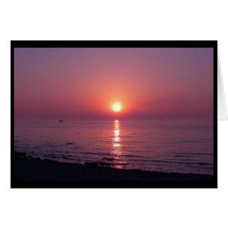 Solnedgång över Lake Michigan (förbigå), OBS Kort