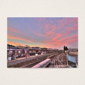 Solnedgång över Spittelau, Wien Österrike Visitkort