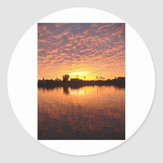 Solnedgång över strand för St Pete Runt Klistermärke