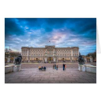 Solnedgång på Buckingham Palace, London Hälsningskort
