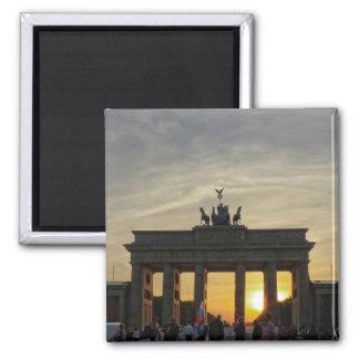 Solnedgång på den Brandenburg grinden, Berlin
