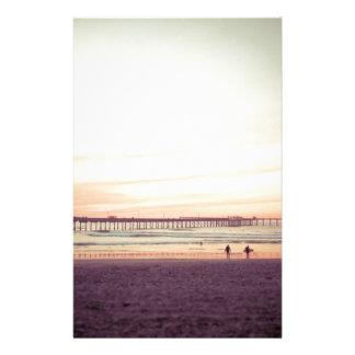 Solnedgång på havstranden, Kalifornien Brevpapper