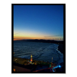 Solnedgång på kusten som Affisch-Göras i USA Poster