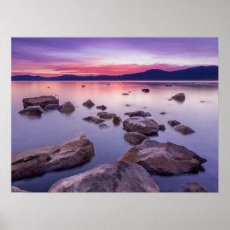 Solnedgång på Lake Tahoe Poster