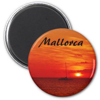 Solnedgång på Mallorca - souvenirmagnet Magnet Rund 5.7 Cm