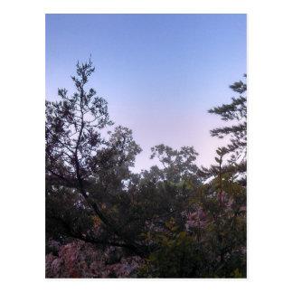 Solnedgång på rånare grottadelstatsparken vykort