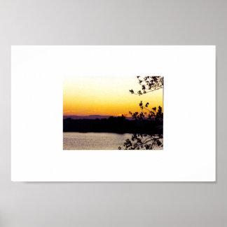 solnedgång på Sacramentoet River Poster