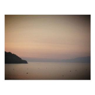 Solnedgång på Sidari (Corfu, Grekland) Vykort