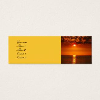 Solnedgång på sjön - visitkortar litet visitkort