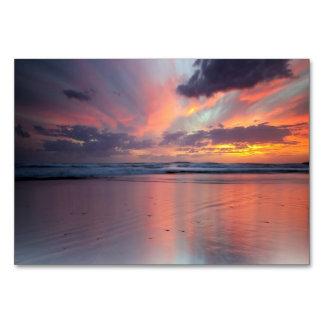 Solnedgång på stranden bordsnummer