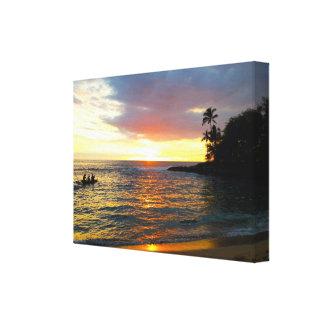 Solnedgång på stranden canvastryck