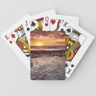 Solnedgång på stranden, Kalifornien Spel Kort
