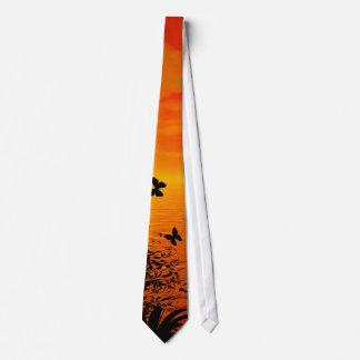 Solnedgång på stranden slips