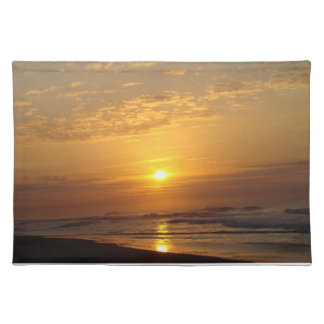 Solnedgång på svart Sandstrand Bordstablett