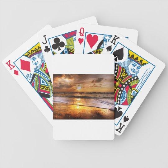 Solnedgång Spelkort