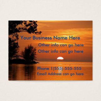 Solnedgång visitkortar för sjöträd visitkort