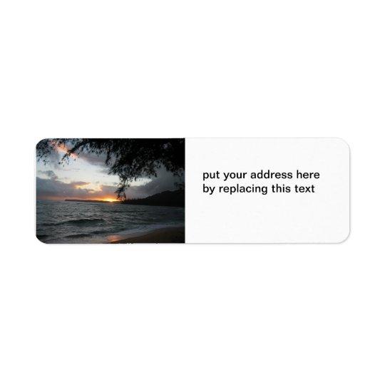 Solnedgångadressetiketter Returadress Etikett