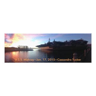 Solnedgångar över USS-nöjesgatan Fototryck