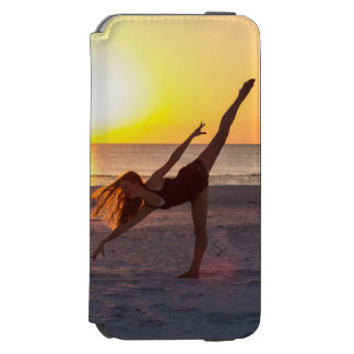 Solnedgångbalett på stranden