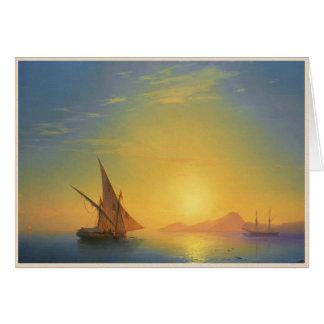 Solnedgången över IschiaIvan Aivazovsky OBS Kort