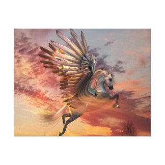 """Solnedgången Pegasus 14"""" x 11"""" kanvastrycket, Canvastryck"""