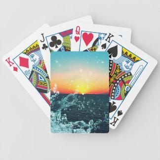 Solnedgången vinkar spelkort