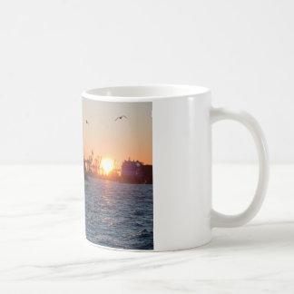 SolnedgångHamburg hamn Kaffemugg