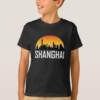 Solnedgånghorisont av den Shanghai chinan Tee