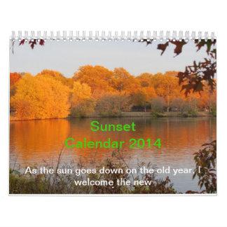 Solnedgångkalender 2014 kalender