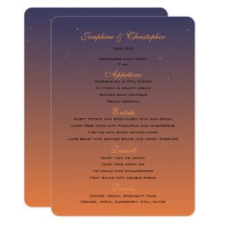 Solnedgångmenymall 11,4 X 15,9 Cm Inbjudningskort