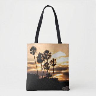 SolnedgångSilhouette i San Diego Tygkasse