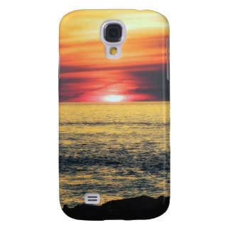 Solnedgångstrand Galaxy S4 Fodral
