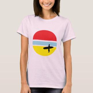 Solnedgångsurfarekvinna T-tröja T Shirt