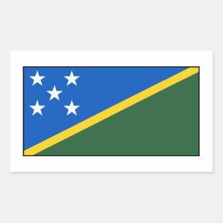 Solomon Island flagga Rektangulärt Klistermärke
