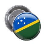 Solomon Island flagga Standard Knapp Rund 5.7 Cm