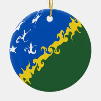 Solomon Island Gnarly flagga Rund Julgransprydnad I Keramik