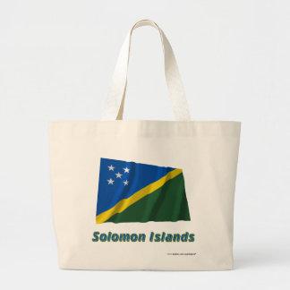 Solomon Island som vinkar flagga med namn Tote Bags
