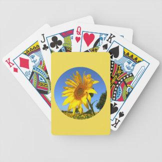 Solros 01.1.2., fält av solrosor spelkort